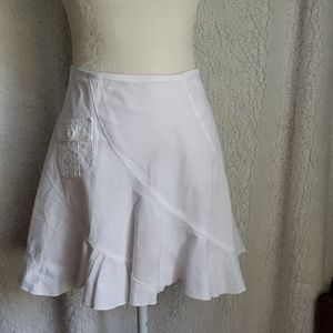 Skirt Flirty White Cotton by Lipsy